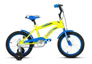 Bicicleta Para Nene Niño-crossboy Top Mega R16 Amarilla Mc