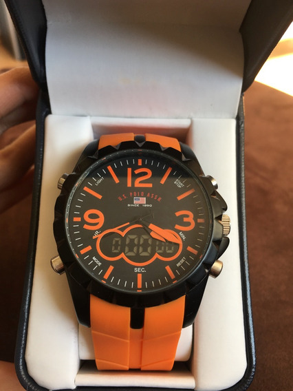 Reloj Hombre Naranja Polo Nuevo