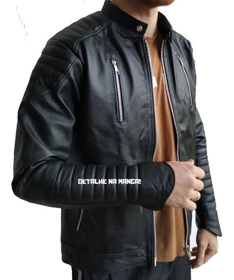Jaqueta Couro Legítimo Bovino Masculina Modelo Ahrim