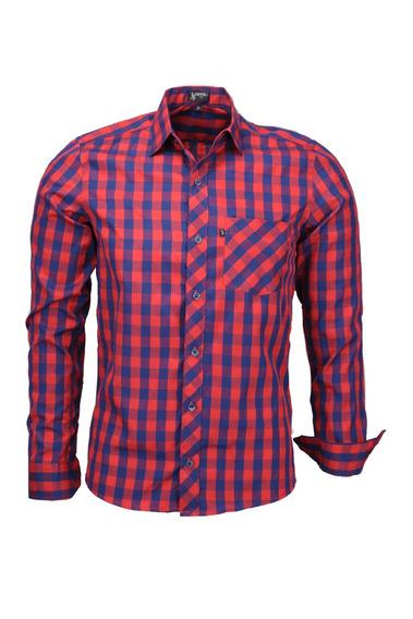 Camisa Plug Manga Longa Slim - Cor 01 - Ref 1537