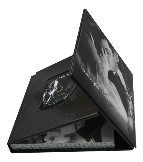 Album Encadernado 25x25 - 10 Lâminas - Modelo Porta Dvd