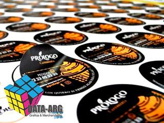 100 Stickers 4 Cm Etiquetas Autoadhesivas Troqueladas