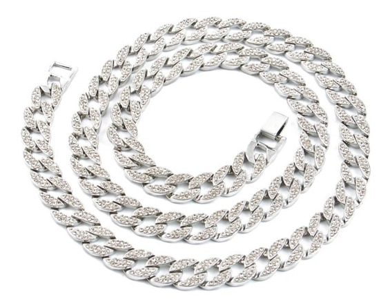 Cadena Choker Diamantada Gargantilla Acero Zirconias Collar