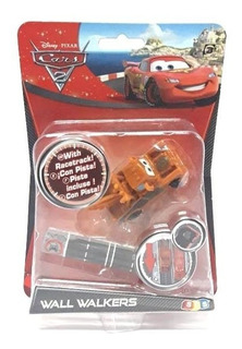 Auto Cars Tow Mater Mate Wall Walkers Con Pista Disney Pixar