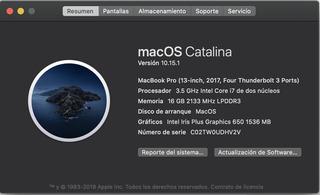 Macbook Pro 13 2017 Touch Bar 16gb Ram 1tb Ssd Apple