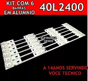 Kit Com 6 Barra Dl40l2400 / 40l5400 Metalicas Com Adesivo