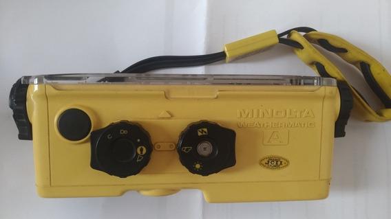 Máquina Fotográfica Aquática Minolta - Funcionando