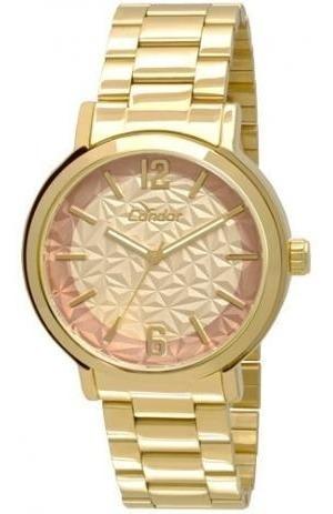 Relógio Dourado Feminino Condor Original Co2035kmv/4x.