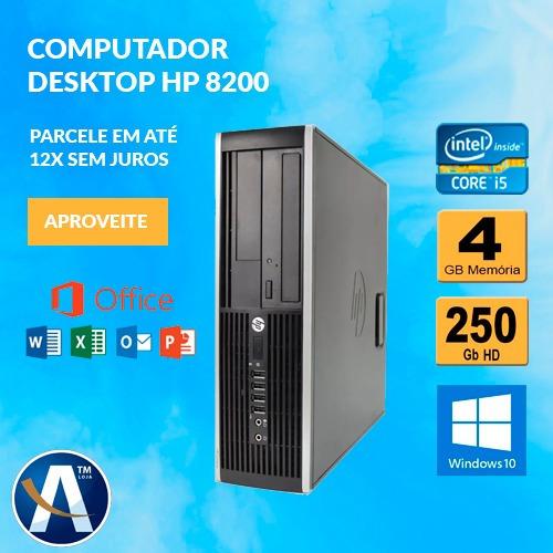 Computador Desktop Hp 8200 I5 4gb Ram Hd 250gb Frete Grátis