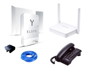 Kit Internet Rural + Telefone + Roteador + Elsys Amplimax 4g