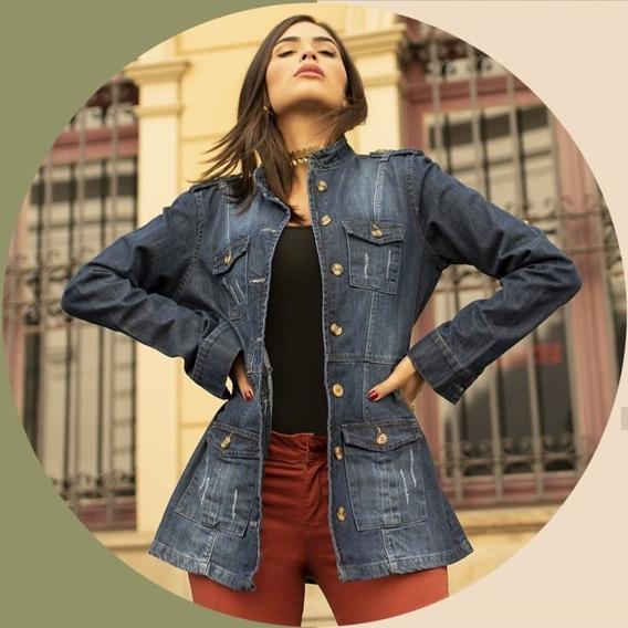 Parka Jaqueta Jeans Feminina Inverno Promoção