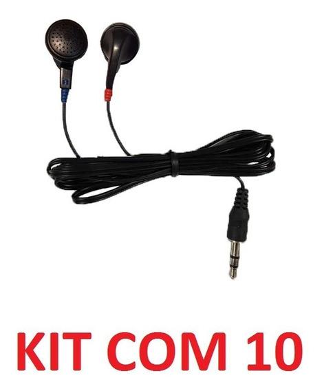 Kit 10 Fone De Ouvido