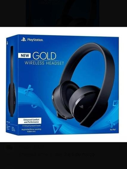 Fone De Ouvido Headset Sony New Gold 7.1 Wireless Ps4