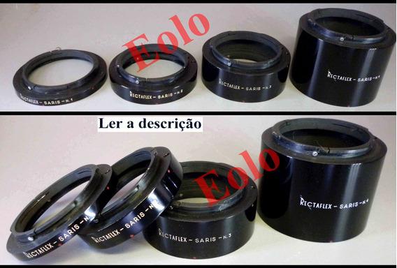 Rectaflex - De Camera Antiga - Anéis Tubos Saris P/ Macro