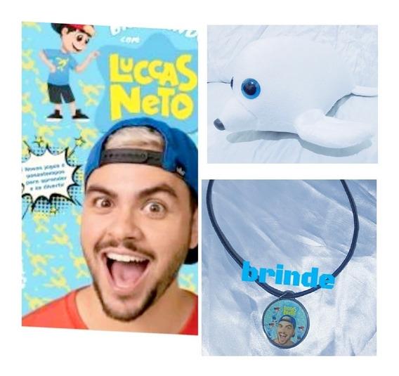 Livro Do Luccas Neto+ Foca (ice) + Brinde: Foca Tem 50 Cm