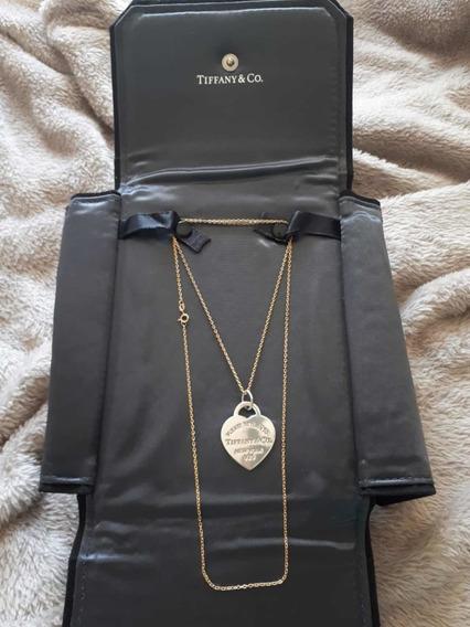 Tiffany Original Pingente Prata.cordão18 Não É Da Tiffany