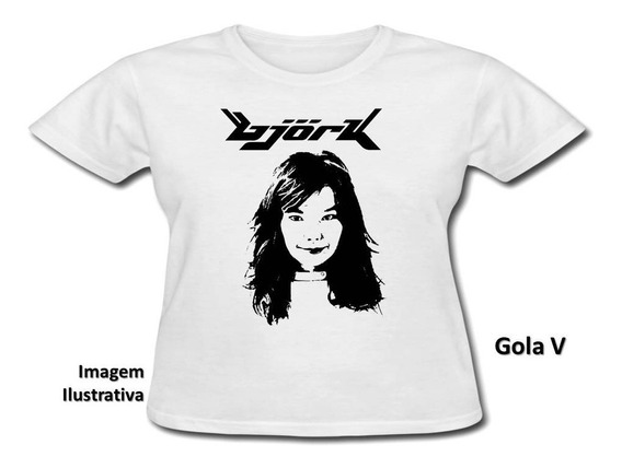Baby Look Personalizada - Björk - Modelo 1