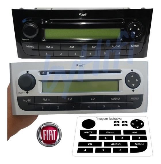 Kit Adesivo 3 Camadas -botões Rádio Linea Punto Frete Grátis
