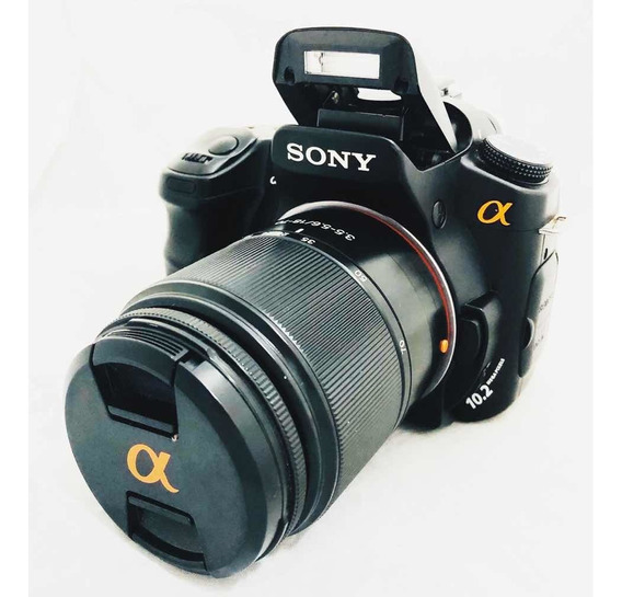 Câmera Dslr Sony Alpha 200 Lente 18 70 + 75-300 + Card 4 Gb