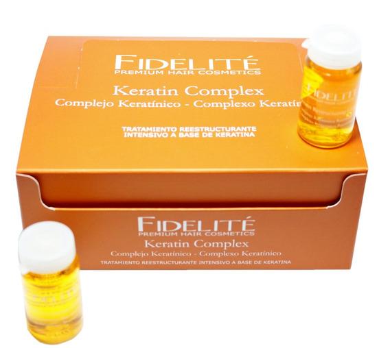 Ampollas Fidelite Complejo Keratínico Keratina 12x15ml