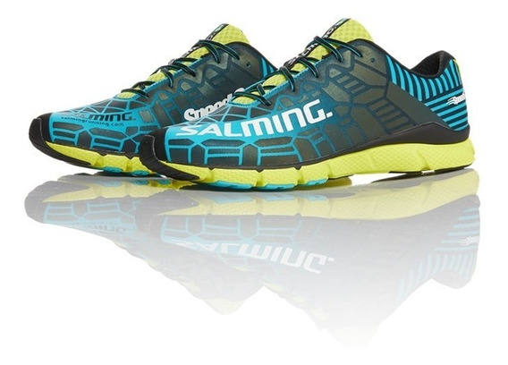 Zapatillas Running Hombre Salming Trail Speed 6 Blue Lime