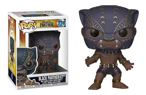 Funko Pop Pantera Negra Black Panther 274 Warrior Edu Full