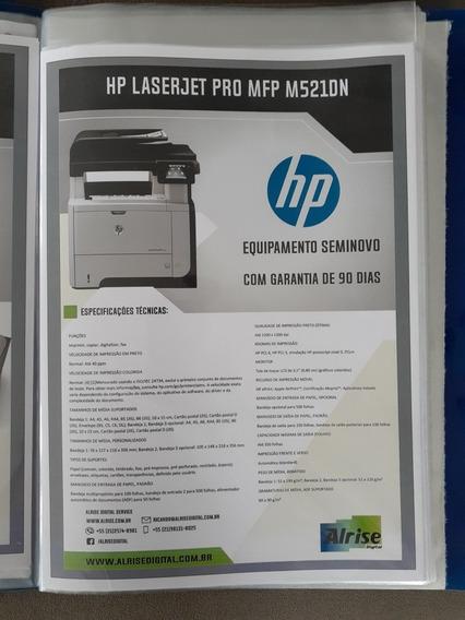 Impressora Laser Multifuncional Hp M521dn - Usada