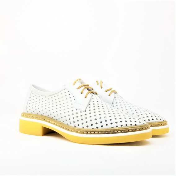 Mocasines Mujer Zapatos Acordonados Cuero Paloma Tibay