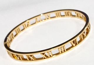 Pulseira Bracelete Argola Ouro 18k Tiffany Maravilhosa !!!