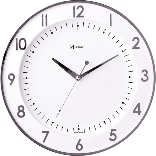 Imagem 1 de 1 de Relógio De Parede Herweg 6806 Cromado