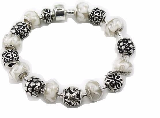 Pulseira Bracelete Berloque Charm Estilo Pandora Ouro Prata