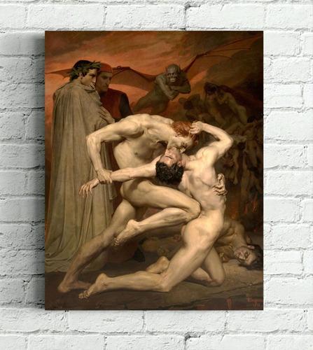Quadro Dante E Vigilio No Inferno Impress Em Tela De Pintura