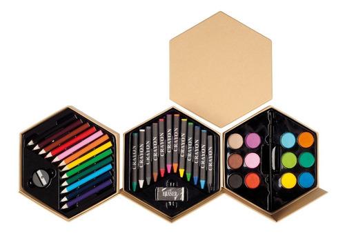 Set Ecológico Coloreo Lápices Acuarelas Crayones Pincel