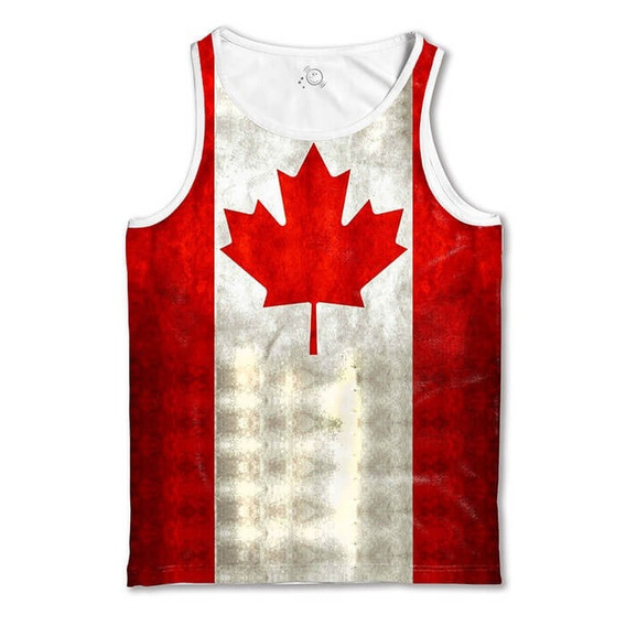 Regata Branca Bandeira Canadá