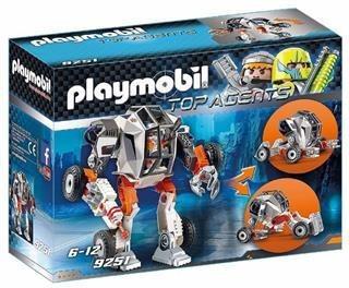 Agente General Con Robot -playmobil