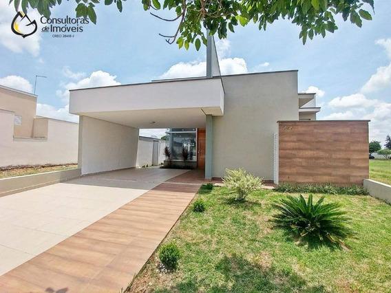 Casa Com 3 Dormitórios À Venda, 160 M² Por R$ 645.000,00 - Condomínio Campos Do Conde Ii - Paulínia/sp - Ca1198