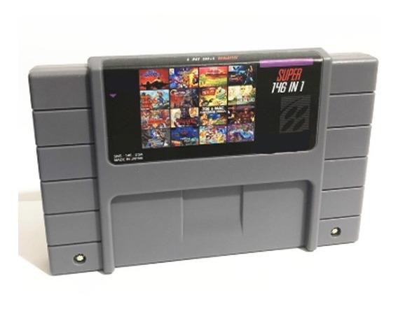 Cartucho Fita 146 Em 1 Super Nintendo Snes Multi Jogos