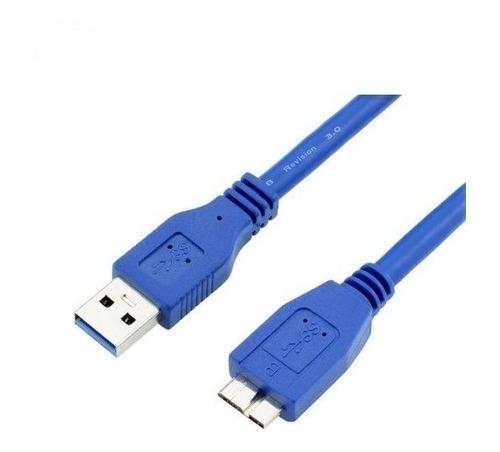 Imagen 1 de 3 de Cable Usb 3.0 Macho A Micro B Macho Usb Flat 1,8m Ulink Azul