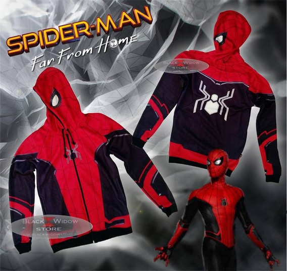 Sudadera Hoodie Spiderman Far From Home Black Widow Store
