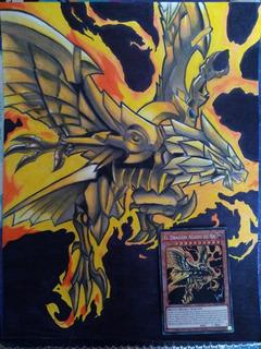 Dibujo Del Dragon Alado De Ra Yu Gi Oh Hecho A Mano