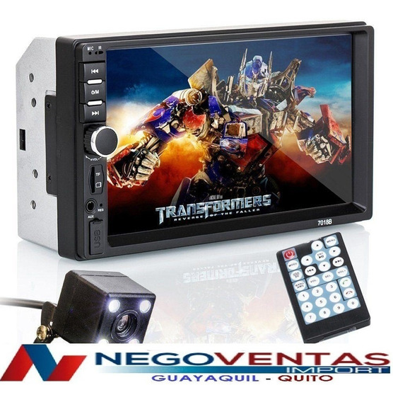 Radio Para Carro Doble Din Mp5 Full Hd + Mandos Al Volante