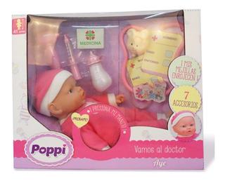 Muñeca Bebe Aye Poppi Vamos Al Doctor 27030 Babymovil