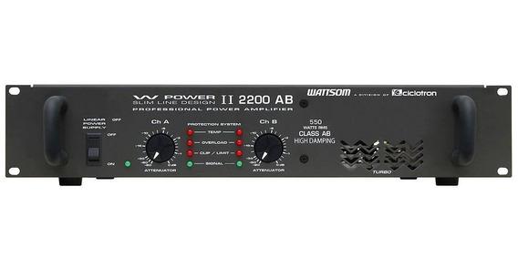 Amplificador De Potência 550w 4 Ohms - W Power Ii 2200 Ab