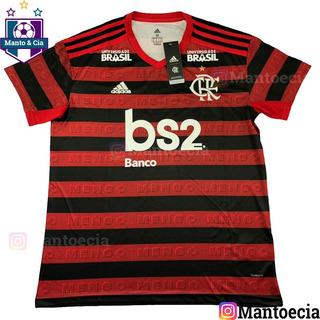 Camisa Oficial Flamengo Home 2019 Com Patrocinios Bs2 Mrv