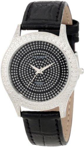 Akr464bk Brillianaire Diamante Negro De Cuarzo Suizo Reloj