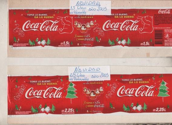 3 Antiguas Etiquetas * Coca Cola * Promo Navidad Año 2005