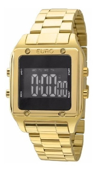 Relógio Euro Feminino Eug2510aa/4p Dourado Digital ( Nfe )
