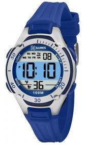 Relógio Xgames Xkppd015 Bxdx Unissex Azul Prata- Refinado