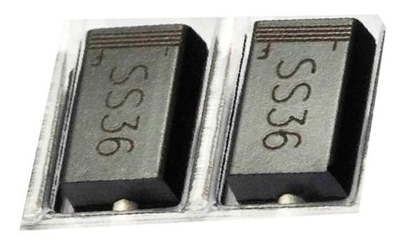 500 Un / Kit Diodo Ss36 Sk36 Schottky 60v Original