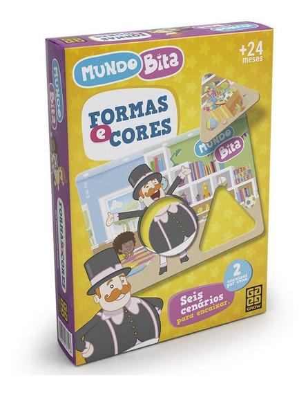Jogo Educativo De Encaixe - Mundo Bita Formas E Cores - Grow